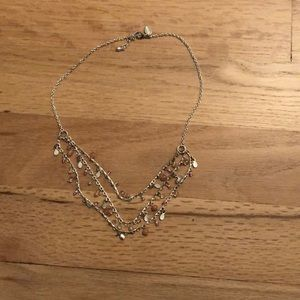 Silver and pink dainty necklace